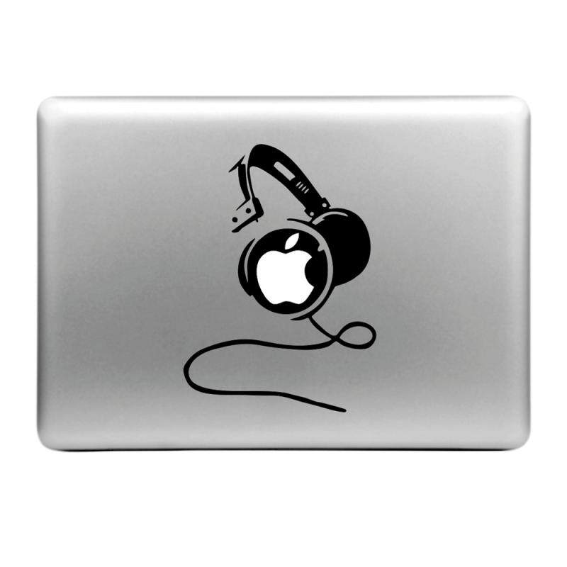 Hat-Prince Earphones Pattern Removable Decorative Skin Sticker for MacBook Air / Pro / Pro with Retina Display - intl