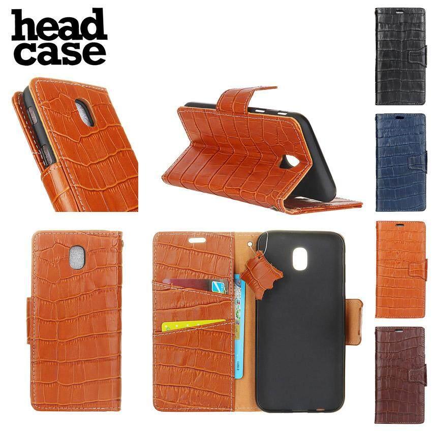 Head Case For Samsung Galaxy J7 2017/J7 Pro Europe versions Case crocodile skin luxury Genuine leather Wallet 5.5 inch - intl