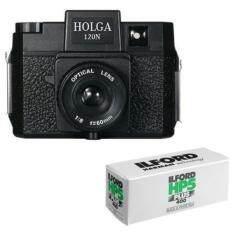 Holga 120n Medium Format Film Camera (black) With 120 Film Bundle By Buyhole.