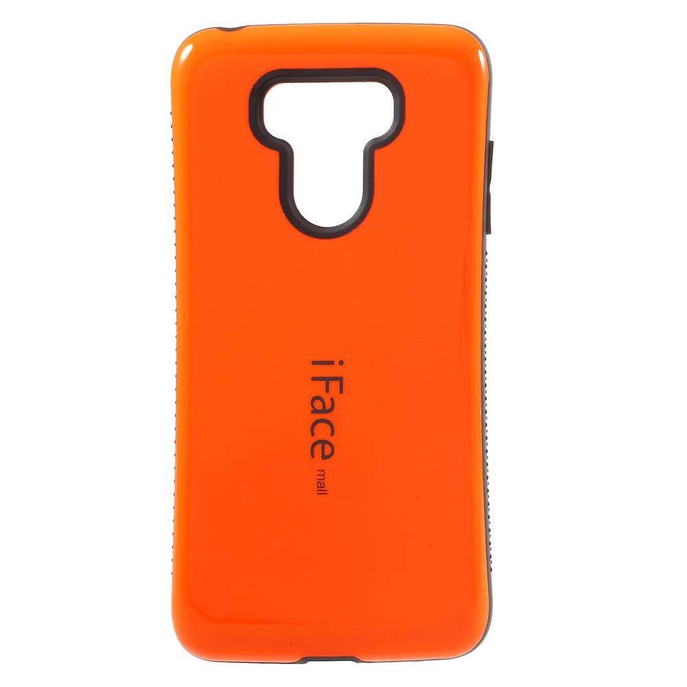 IFACE MALL PC + TPU Perlindungan Ponsel Casing Non-slip Butir Di Dua Sisi untuk LG G6- Orange-Intl