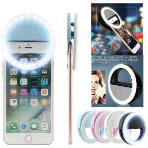 Hình thu nhỏ sản phẩm jiechuan 36 LED Battery Selfie Ring Light, Clip On Portable Photography LED Camera Fill Lights For IPhone 6 6s 7 Plus, IPad, Samsung Galaxy And Other Andriod Smart Phones(bule)