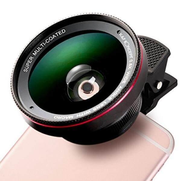 K & F Concept 2 Dalam 1 Profesional HD Milosos, 0.6X Super Lebar Sudut Lensa, 12.5X Macro Lensa, klip-On Ponsel Lensa untuk iPhone 7/7 Plus/6 S/6 S Plus/6/ 5, samsung-Internasional