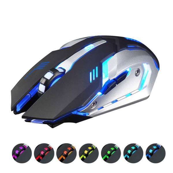 Kobwa 2.4GHz 6 Buttons 1600 Dpi Rechargeable Wireless USB LED Backlit Mute Optical Ergonomic Gaming Mouse - intl