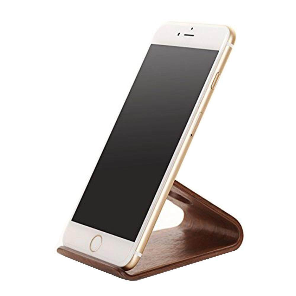 Kobwa Portable Wooden Handy Cell Phone Desk Stand HolderBrown, Walnut - intl