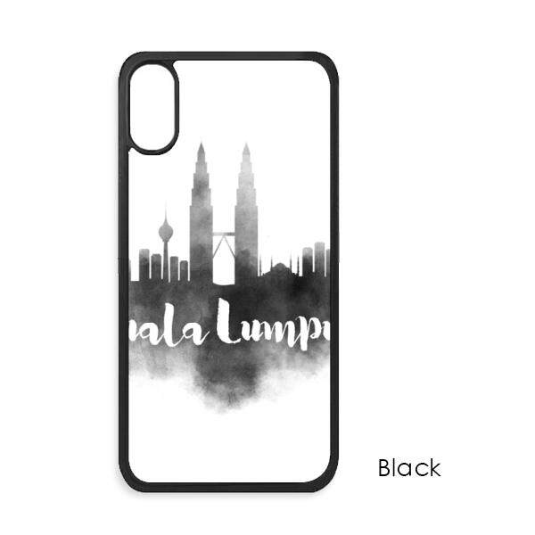 Kuala Lumpur Malaysia Landmark Tinta Kota iPhone X Case S Iphone Case Apple iPhone Sarung Telepon Case Hadiah-Internasional