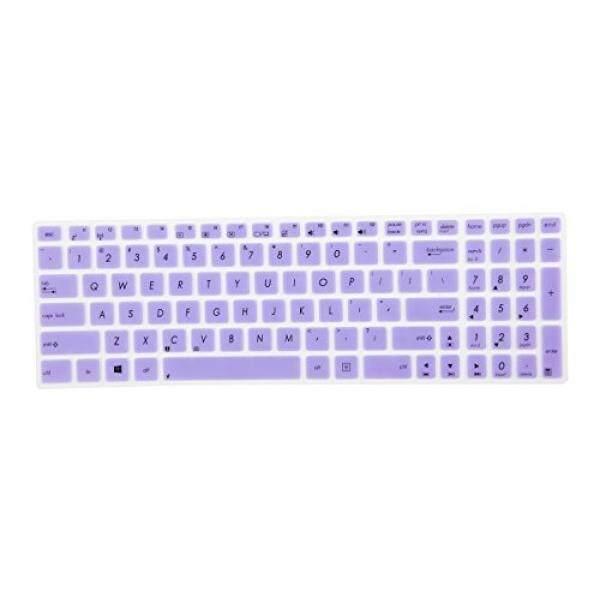Leze-Ultra Tipis Keyboard Kulit Sarung untuk ASUS UX501 K501UX F554LA F555LA F555UA F556UA R556LA X540SA X552 X555DA GL502VY GL502VS GL702VM GL702VS GL552VW GL752VW GL552JX Q504UA Q534UX Q524UQ-Ungu-Internasional