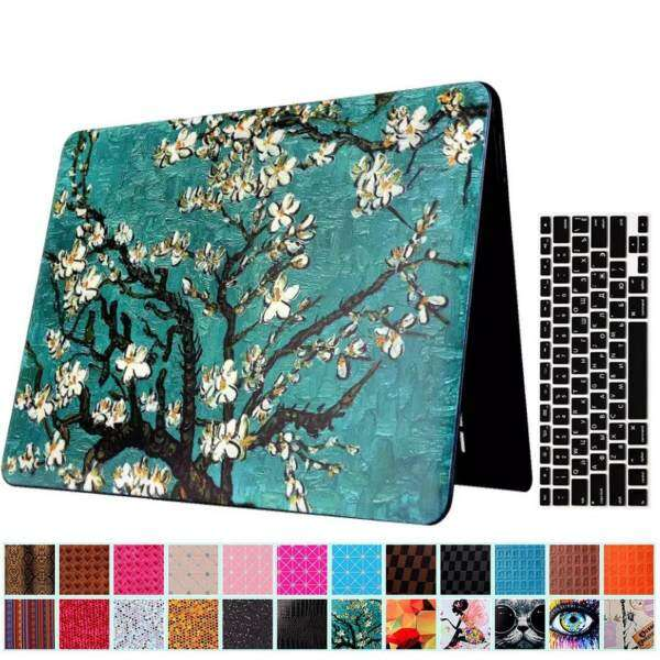 Newchance Macbook Air 13 Case and Keyboard Protector, 2 in 1 Beautiful Pattern Hard Case