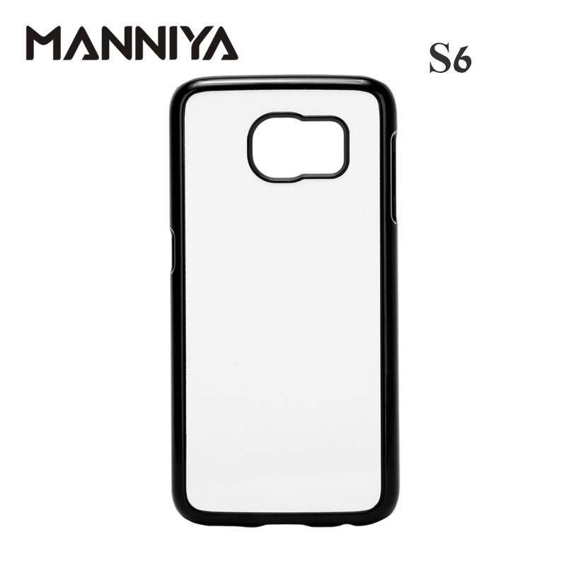Manniya 2D Sublimasi Polos Plastik Case untuk Samsung Galaxy S6/S6 Edge/S6 EDGE + dengan Aluminium Sisipan dan Lem! 50 Pcs/lot-Intl