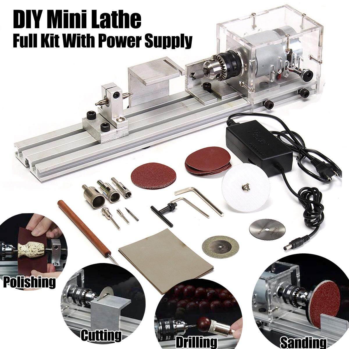 Hình ảnh Mini Lathe Beads Machine Polisher Table Saw Mini DIY Wood Lathe Kit Accessory - intl