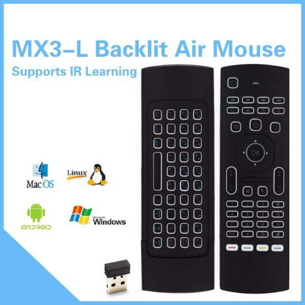 MX3-L air mouse supports IR Learning with Backlit Malaysia