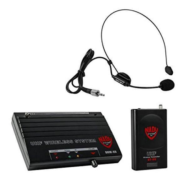 Nady DKW-8U Wireless UHF Headmic Microphone System-termasuk Nady HM-3 Mikrofon, Bodypack Nirkabel, Receiver, AC Adaptor dan Kabel Audio-Karaoke, Kinerja, Presentasi, Alamat Publik-Intl