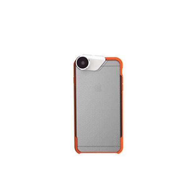 Olloclip-Ollo Case untuk iPhone 6 Plus & 6 S Plus-(Case Saja) Warna: warna Tidak Mengkilap Bening/Bemper Oranye-Internasional