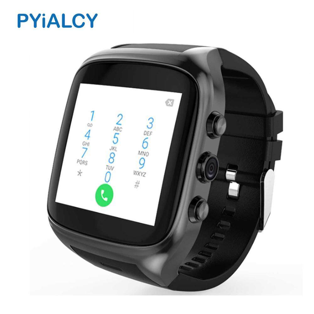 Pyialcy X02S Pintar Selai Tangan 3G Android 5.1 WIFI GPS Bluetooth Arloji Olahraga Telepon Tombol Penyetel Panggilan Selai Kebugaran pelacak-Internasional