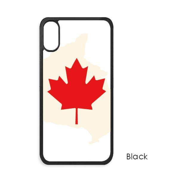 Merah Maple Daun Simbol Kanada Negara Bendera iPhone X Case S Iphone Case Apple iPhone Sarung Telepon Case Hadiah internasional