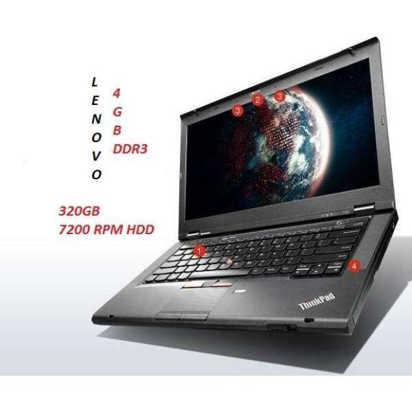 (REFURBISHED) LENOVO Thinkpad  T430S INTEL CORE i5  3RD GEN/4GBDDR3/320GB HDD/INTEL HD GRAPHIC/14LED/WIN 7 PRO Malaysia