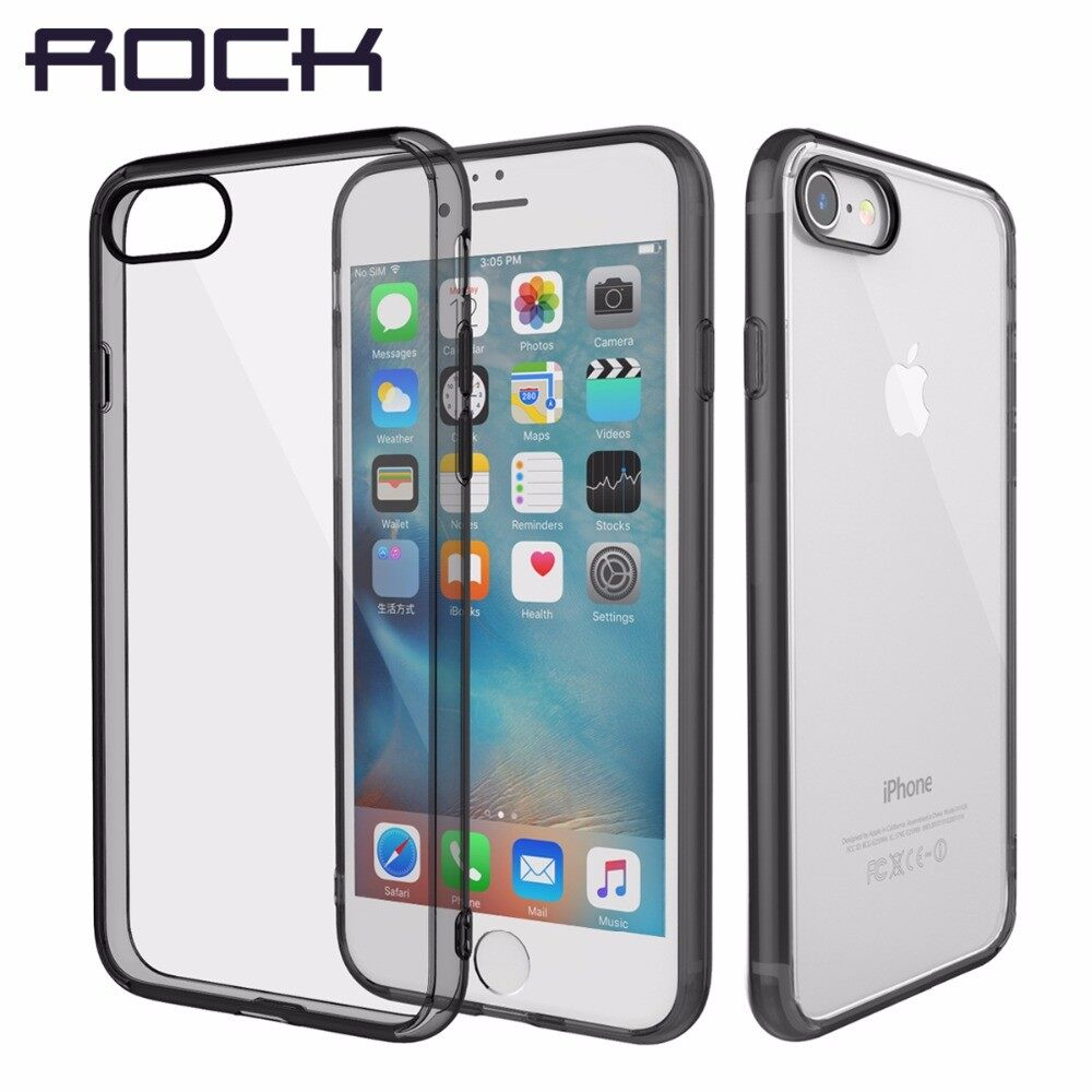 ROCK Pure Series For iPhone 7 8 Case, Transparent Crystal Clear Phone Case For iPhone7