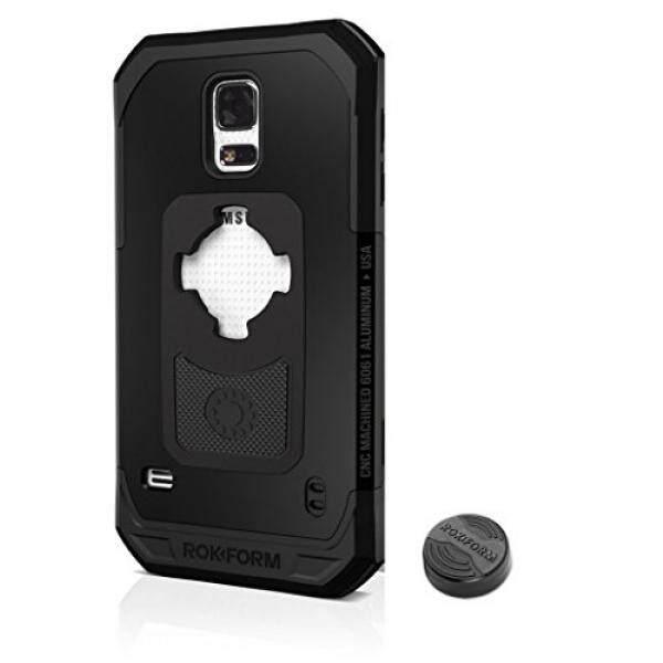 Rokform Samsung Galaxy S5 Fuzion Pro Seri Aluminium Kasar Kasus Telepon Magnetik dengan Twist Lock & Universal Magnetic Car Mount (hitam) -Intl