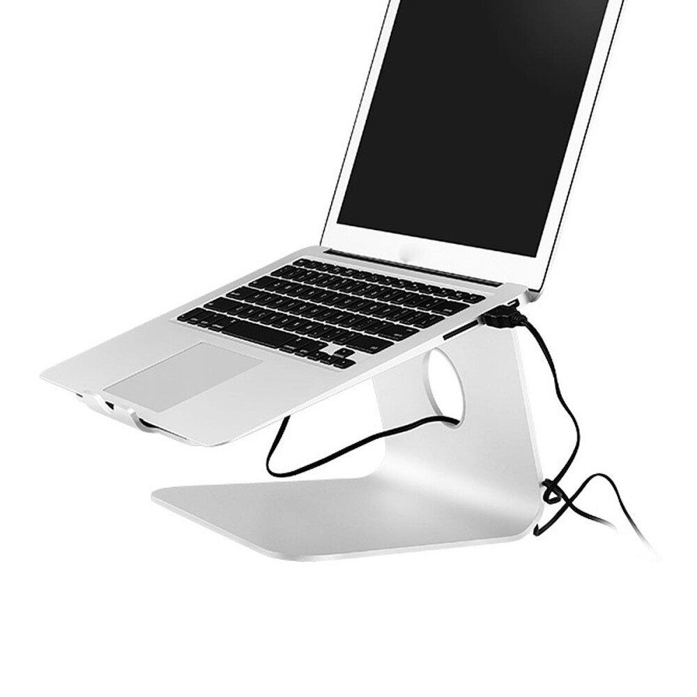 Silver Metal Notebook Laptops Stand Desktop Holder For MacBook Air Macbook Pro - intl