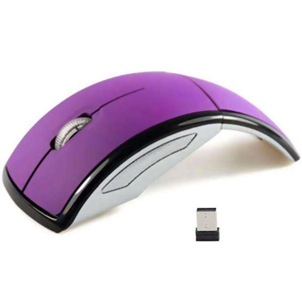 Smart 2.4Ghz Ultra-slim 1600DPI Foldable Wireless Arc Optical Mouse with Mini USB Receiver for PC Laptop Computer Notebook Pad Tablet SM0004 (Purple) Malaysia