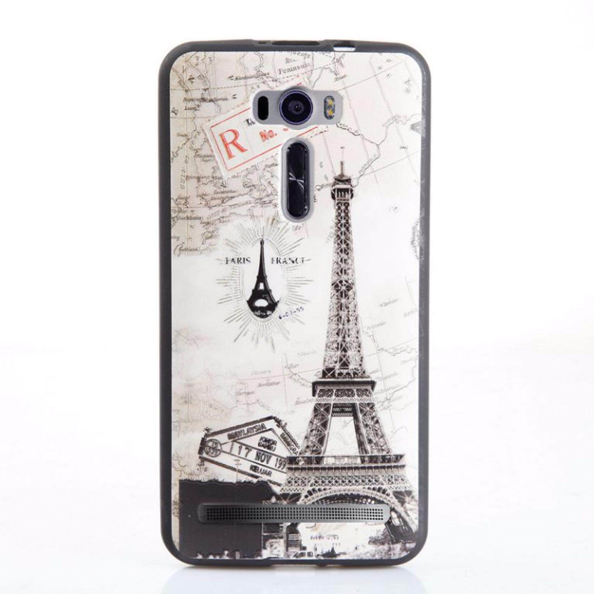 Soft Tpu 3d Embossed Painting Cover Case For Asus Zenfone 2 Laser Ze601kl Ze601klmap Tower