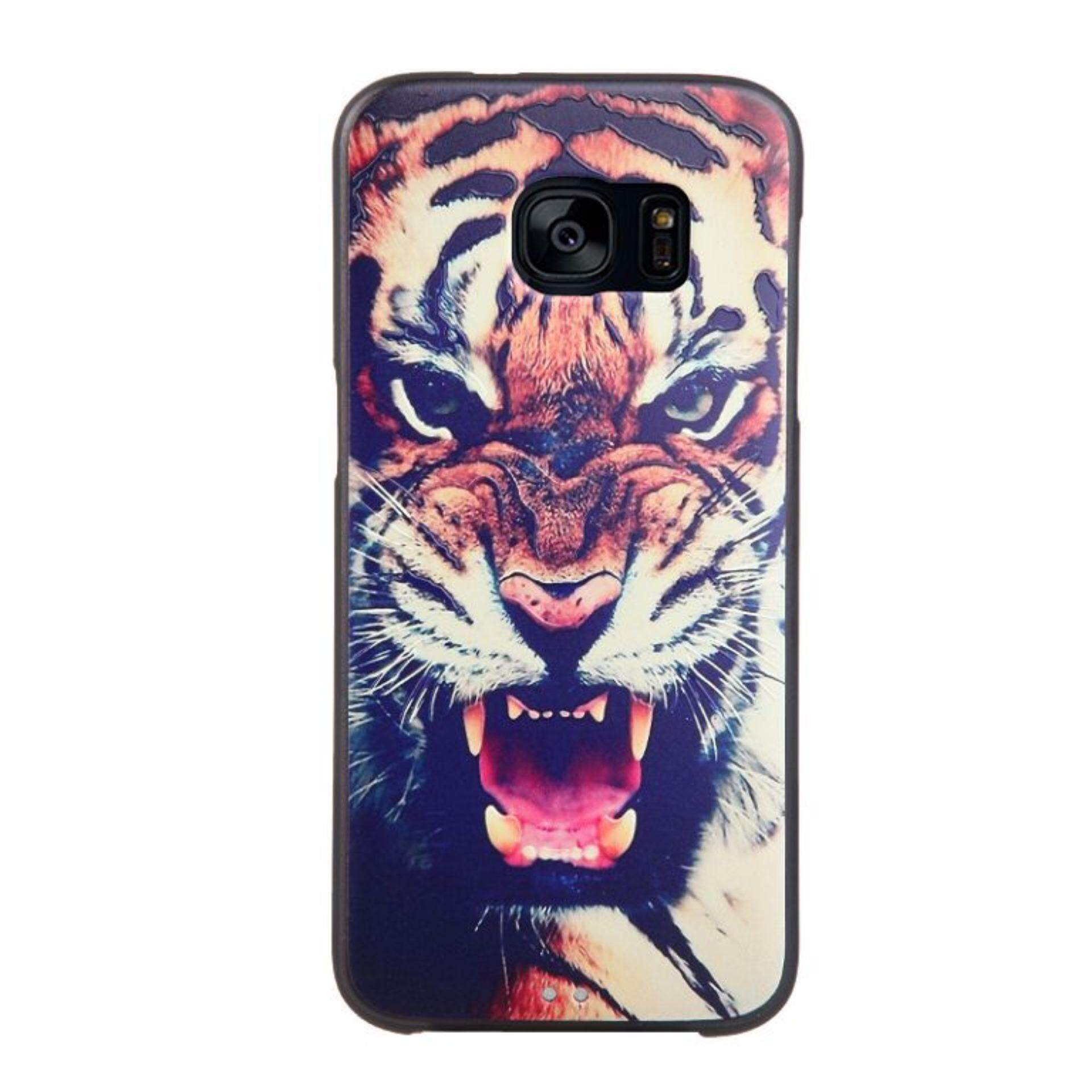 Soft TPU 3D Embossed Painting Cover Case For Samsung Galaxy S7 Edge(Tiger) -