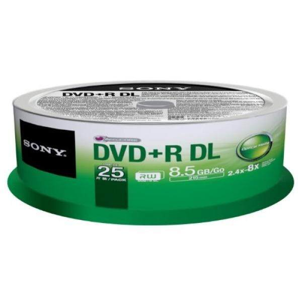Sony 25DPR85SP DVD+R Dual Layer Media - 25pk Spindle