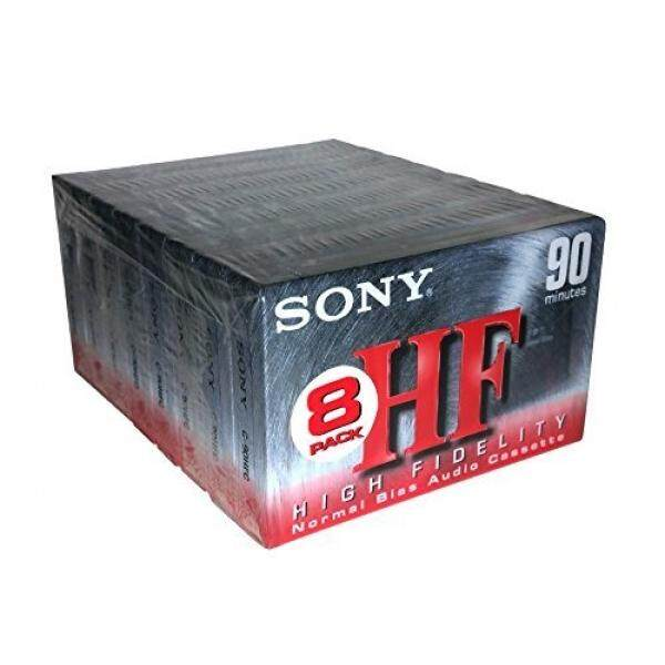 Sony HF 90 High Fidelity Normal Bias C-90HFC Audio Cassettes - 8 Pack