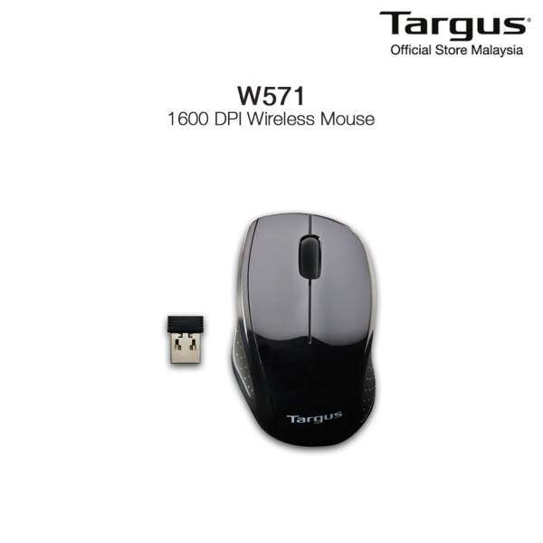 Targus 2.4GHz Wireless Optical Mouse For Notebook & Desktop - AMW571 (Black) Malaysia
