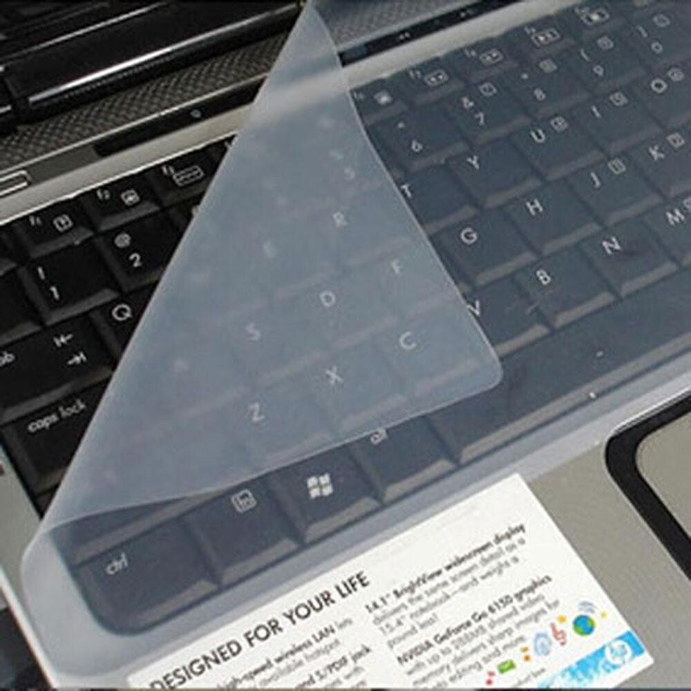 Teekeer Clear White Universal Silicone Keyboard Protector Skin Cover For 14 Inch Laptop Notebook - intl