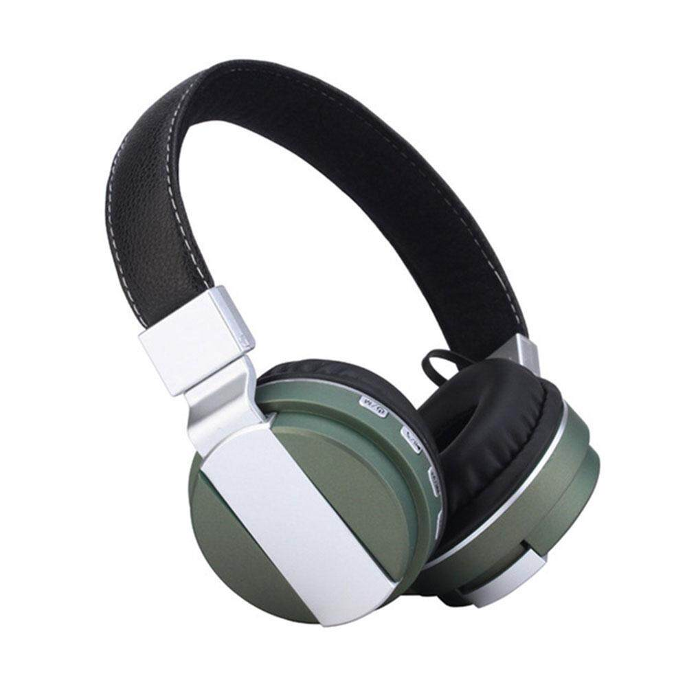 Teekeer Fashion Wireless Headsets Foldable Bluetooth 4.0 FM Radio Headphones With Mic - intl