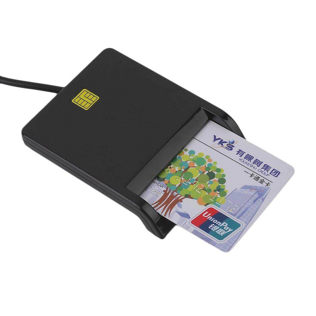 Top USB Smart Card Reader IC / ID Card Reader Plug And Play For PC Card Adapter - intl