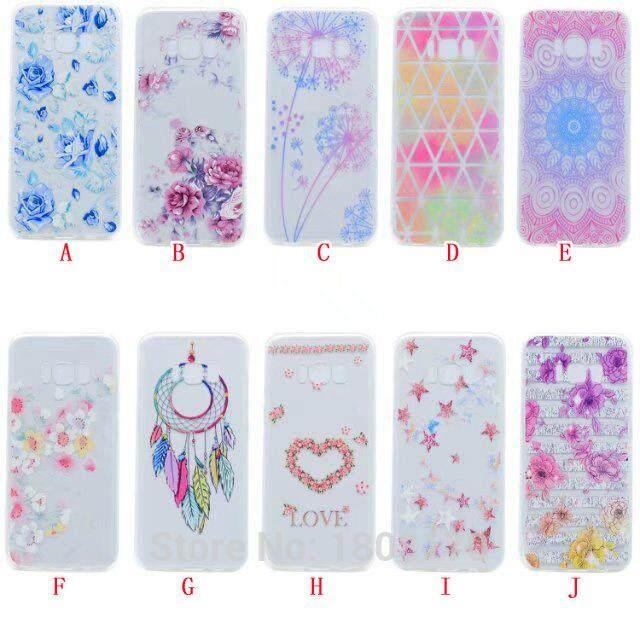 Transparent Mandala Flower TPU Soft Case For Samsung Galaxy S8 Plus S7 S6 Edge 2017 A3 A5 A7 J2 J3 J5 J7 Prime Love Cover 20pcs - intl