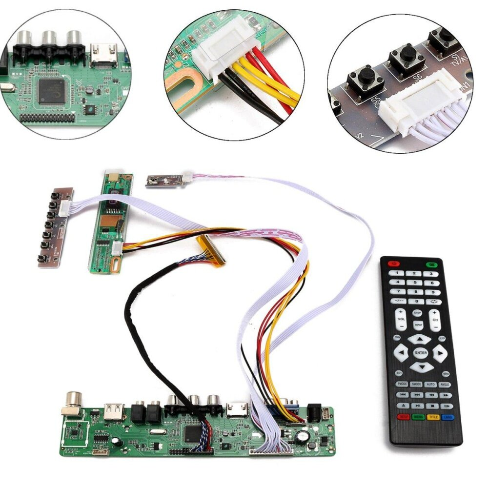 TV Universal LCD LED Screen Controller Board DIY Monitor Kit with Remote Control - intl