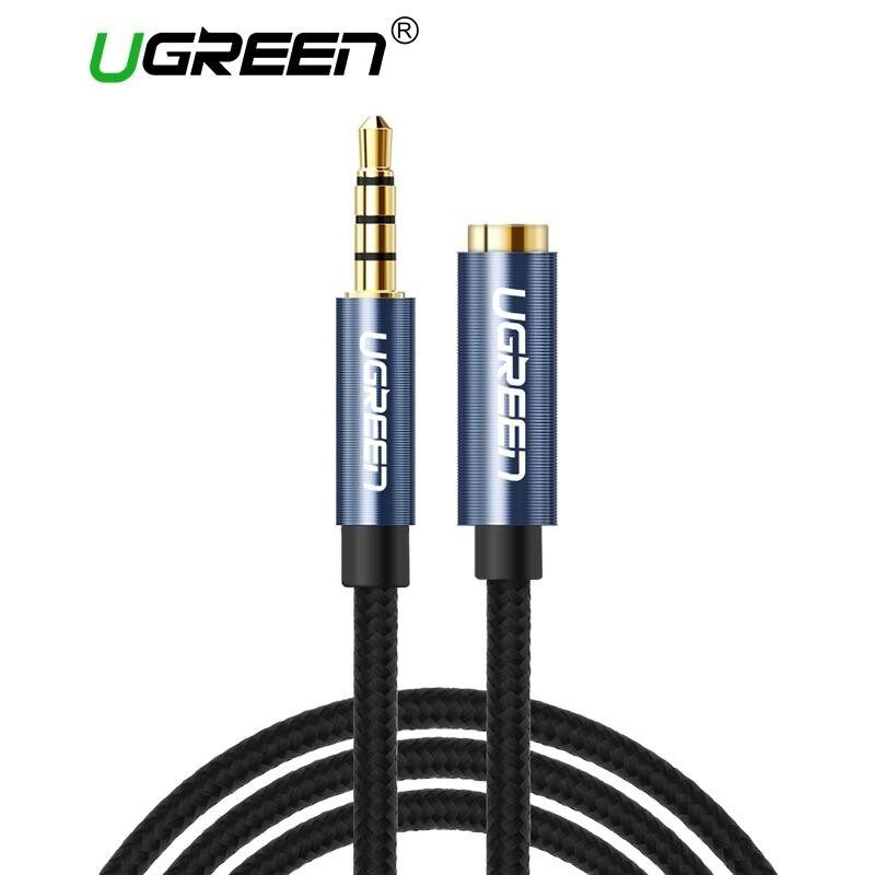 UGREEN 0.5Meter 3.5mm Extension Audio Cable 4 Poles Male to Female Aux Cable Support