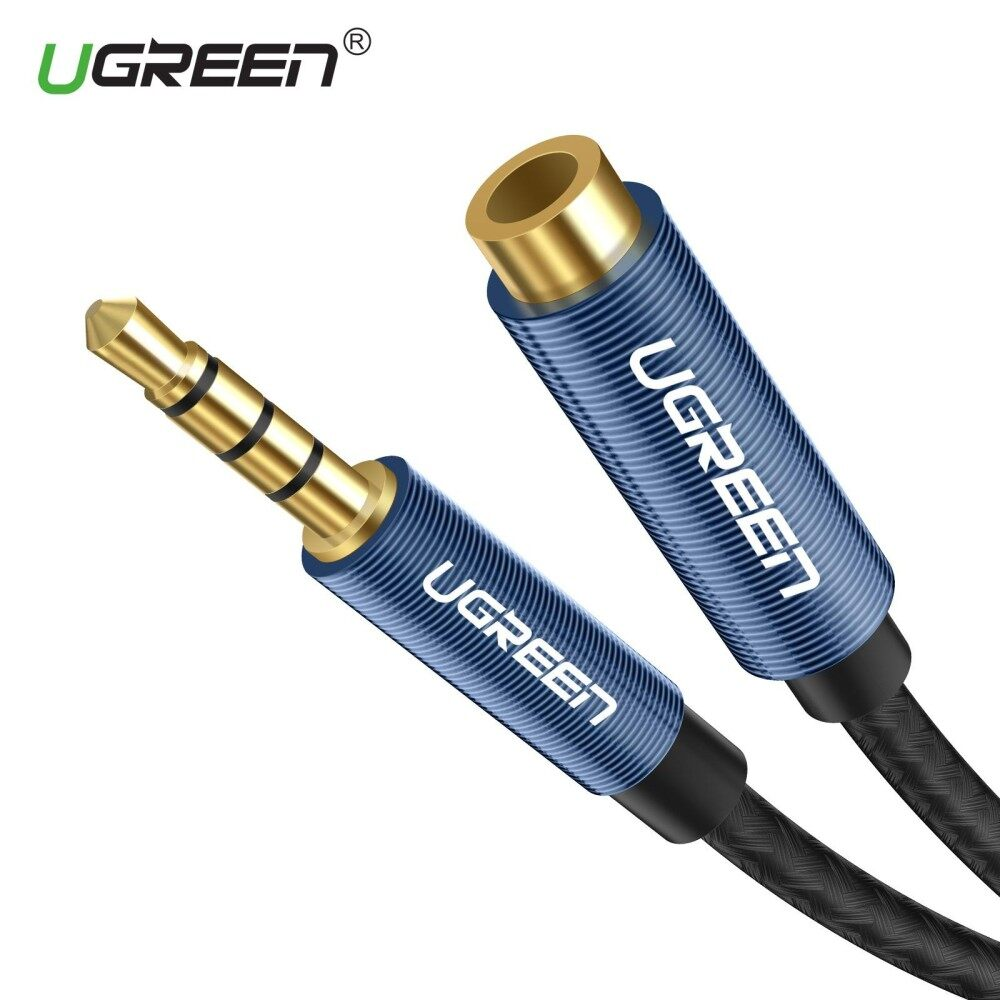 UGREEN 1.5Meter 3.5mm Extension Audio Cable 4 Poles Male to Female Aux Cable Support