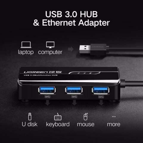 Home; Ugreen Adaptor Eternet USB Jaringan Gigabit Adaptor 10/100/1000 Mbps/