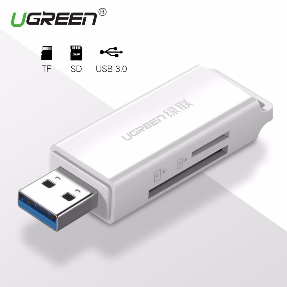 Ugreen Usb 3.0 Card Reader Super Speed Mini Sd Tf Memory Card Reader For Macbook Max Support 256gb Micro Sd Cardreader - Intl By Ugreen Flagship Store.