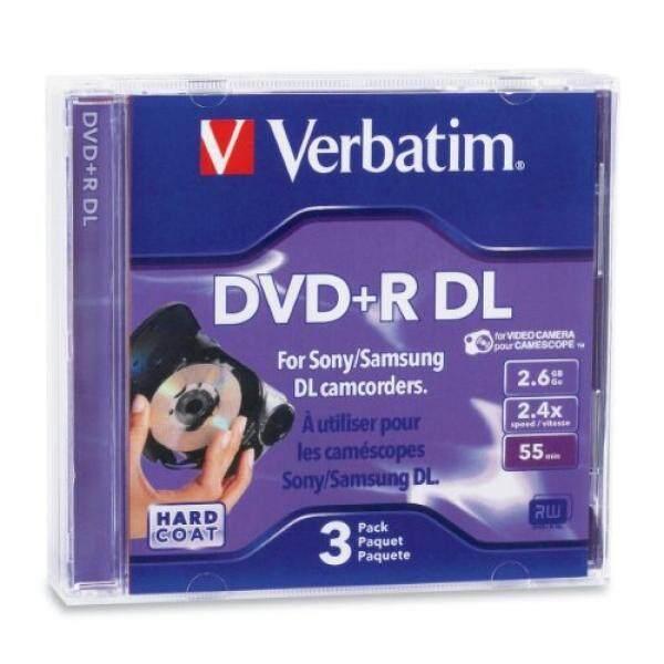 Verbatim 2.6GB 2.4X Mini Double Layer Recordable Disc DVD+R DL, 3-Disc Jewel Case 95313 - intl