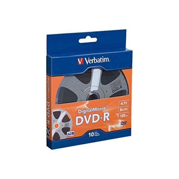 Verbatim 4.7GB 8x Digital Movie Recordable Disc DVD-R, 10-Disc 97946 - intl