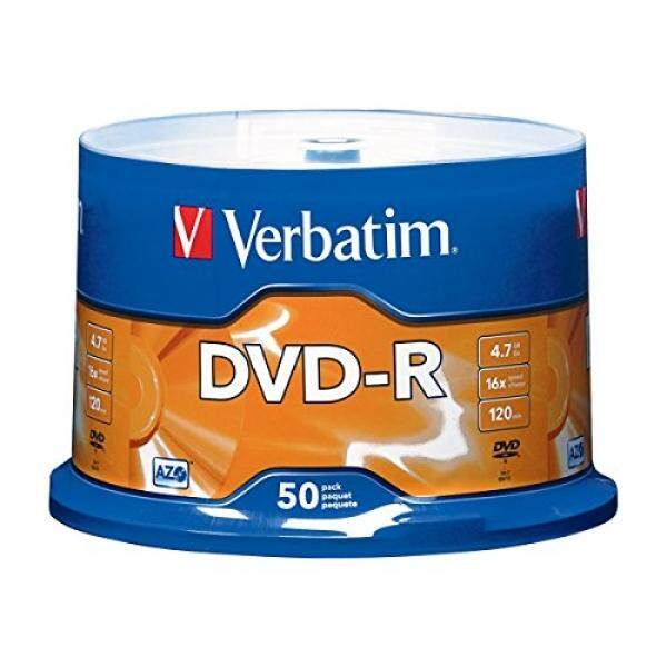 Verbatim 4.7GB up to 16x Branded Recordable Disc AZO DVD-R 50-Disc Spindle 95101 - intl