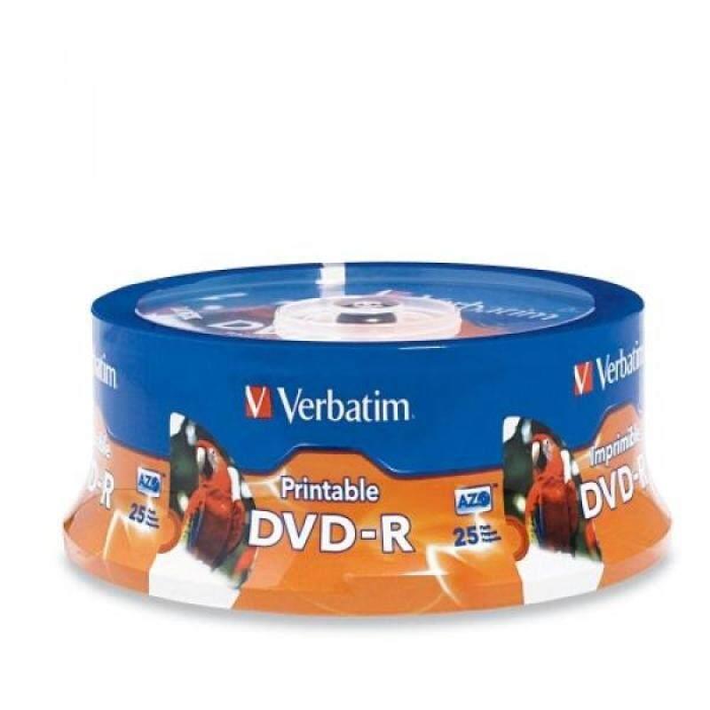Verbatim 4.7GB up to 16x White Inkjet PrintableHub Printable Recordable Disc DVD-R 96191 - intl