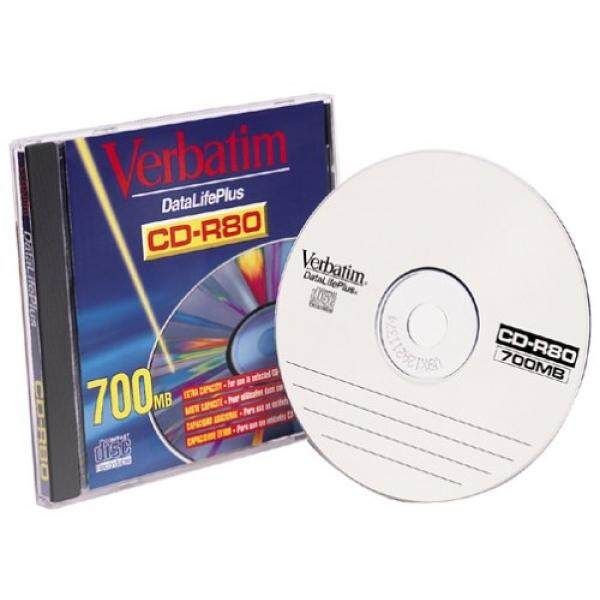 Verbatim 93707 CD-R, 80 Minute, 700MB, 8X (Single) (Discontinued by Manufacturer)