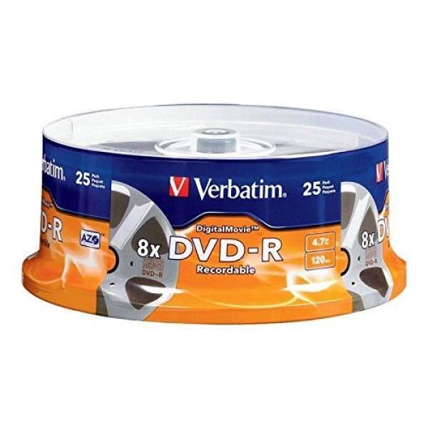 Verbatim Digital Movie DVD-R 4.7GB 8X 25 Disc Spindle 94866 - intl