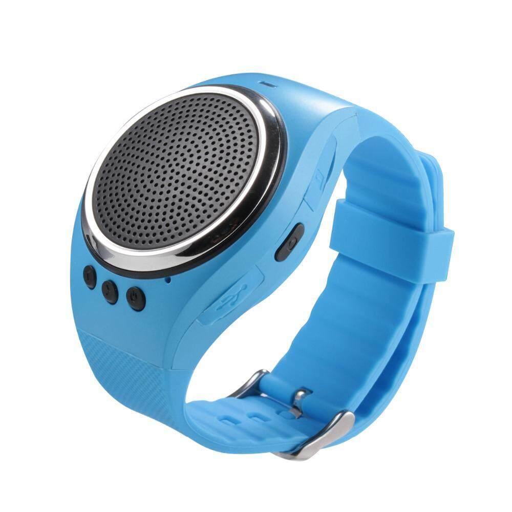 Voovrof Olahraga Musik Bluetooth Nirkabel Speaker Watch A dengan FM Radio, Panggilan Handsfree, TF Kartu Bermain, Selfie Rana, Jam Alarm HP Anti-hilang untuk Smartphone, Hitam-Intl