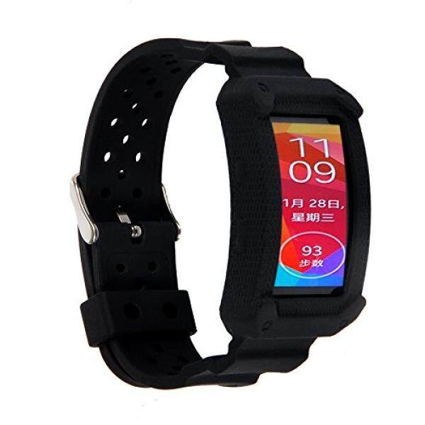 X4-TECH Gelang Silikon untuk Gear Fit2 Lembut Silicone Pengganti Elastomer Band Gelang Plastik untuk Samsung Galaxy Gear Fit 2 SM-R360 Smartwatch (baru-Hitam) -Intl