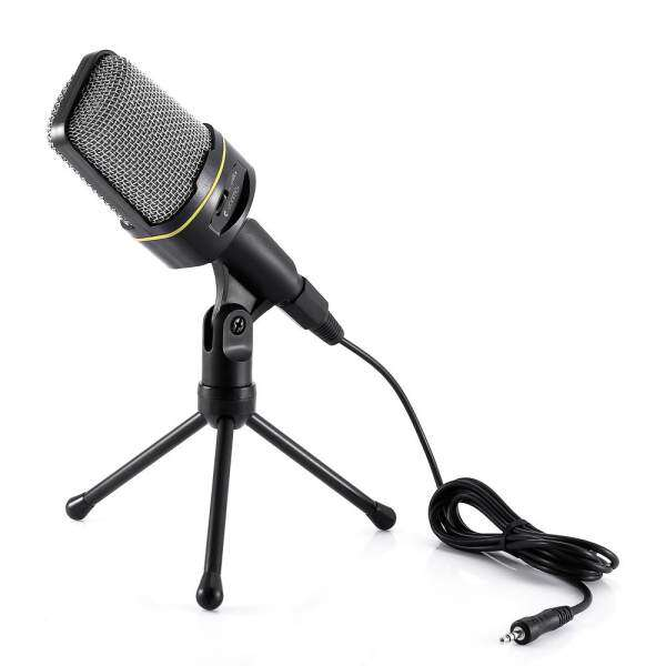 Yanmai Condenser Sound Microphone with Stand for PC Laptop Skype Recording Malaysia