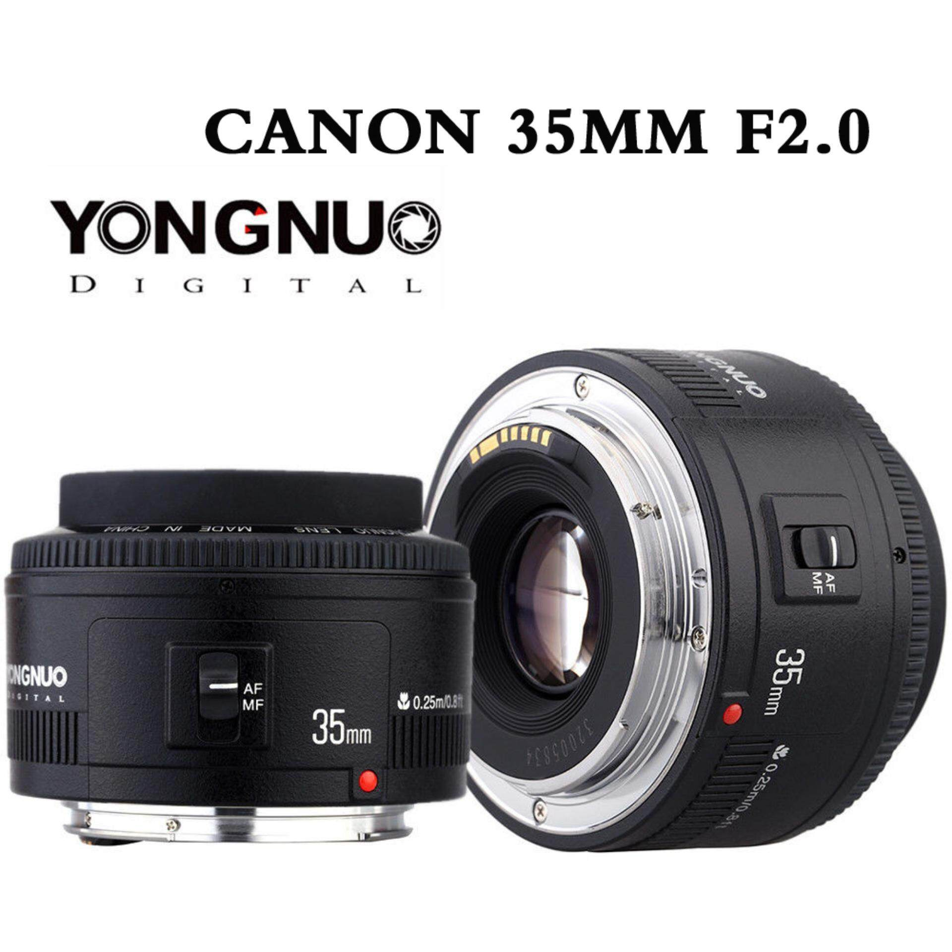 Buy Yongnuo Camera Remote Controls Lens Fix For Canon 50mm Yn35mm 35mm F 20 F2 Af Wide Angle Fixed Ef