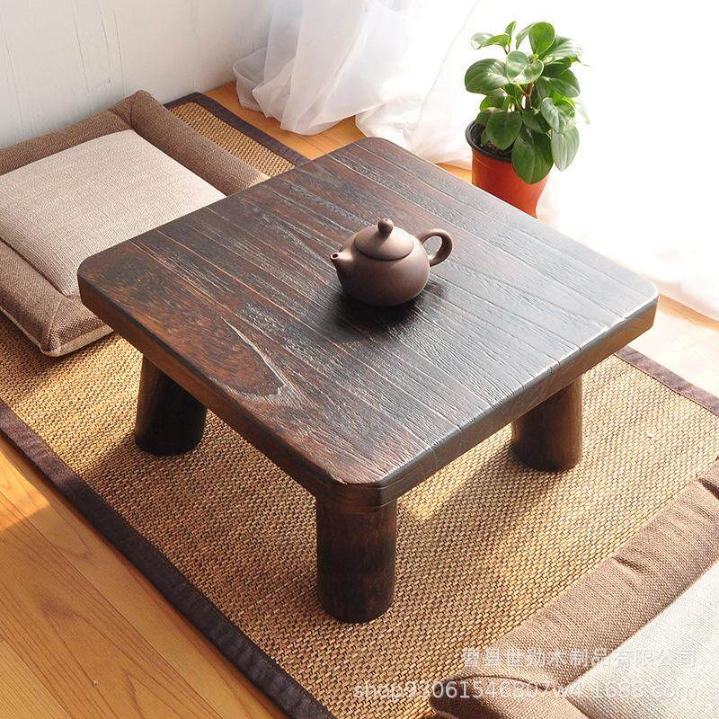 Japanese Shao Tong Mu Small Square Simple Tatami Windows And Table Small Tea Table Short Table Solid Wood Di Zhuo
