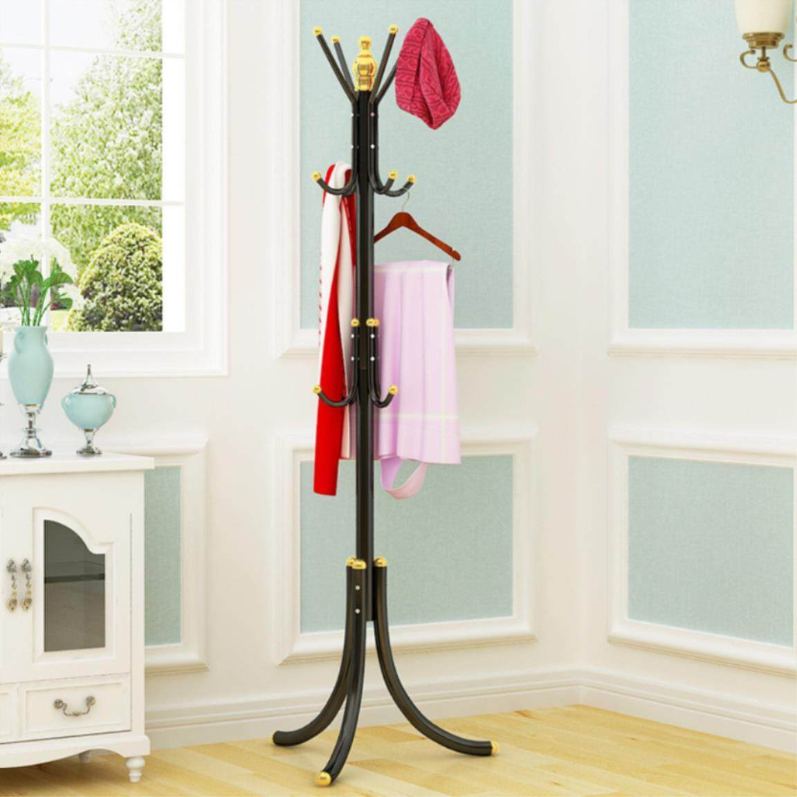 European Luxury Multifunction Coat Hat Metal Rack Organizer Hanger Hook Stand For Purse Handbag Clothes Scarf