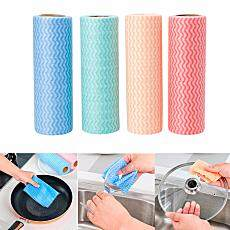 1 Gulungan 50 Pcs/25 Pcs Disposable Non-woven Kain Serbet Wiping Rags Pembersih